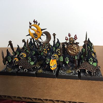 Warhammer Moonclan Grots / Night Goblins X20 Pro Painted Age Of Sigmar