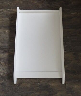 Cot top changer / baby changing table / white wood