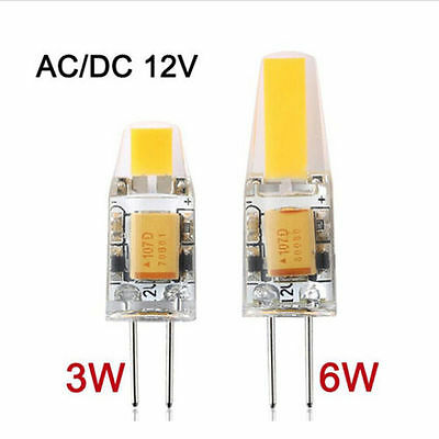 Dimmable 10X/1X G4 COB LED Bulb Light 3W 6W Replace Home Bright Lamp AC/DC 12V