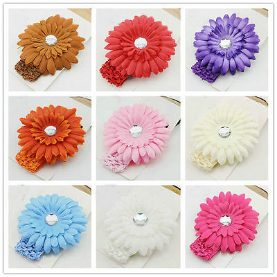 Girl Kids Baby Toddler Infant Daisy Flower Headband Hair Band Pearl Accessories