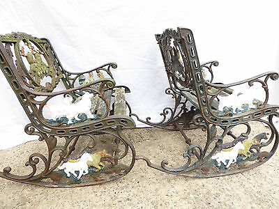 Vintage Childs Rocking Chairs Cast Iron