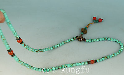 Chinese Tibet Turquoise Collect Buddha Bead Necklace