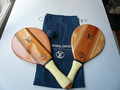 Louis Vuitton – Frescobol Carioca Ping Pong Paddle Tennis Set Wooden Racquets 22