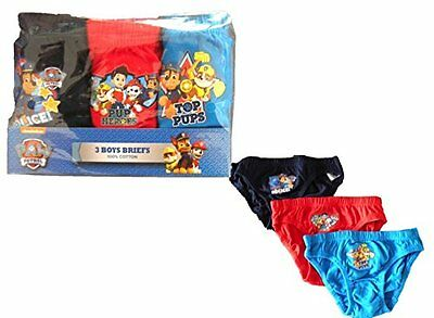 3 Prs Paw Patrol Characters Boys Cotton Underpants Briefs Knickers 18-24 Months