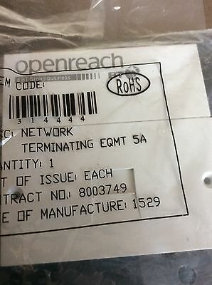 Genuine BT Openreach front plate 5A with screws) - NEW & SEALED -