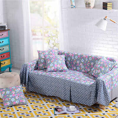 Nice Floral Polyester Sofa Cover Taul Couch Protector for 1 2 3 4 seater yjzrx