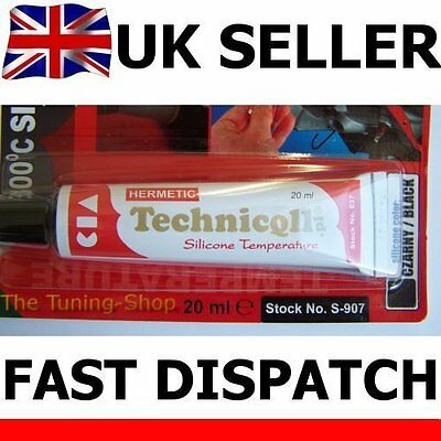 1x Black HT High Temperature Silicone Adhesive Sealant 20ml Heat Resistant 300'C