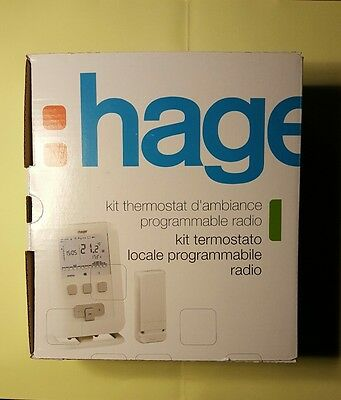 Thermostat ambiance programmable - HAGER radio EK560 à piles LR3 - HAGER SAS :