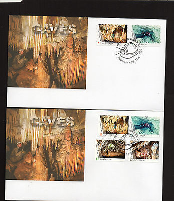 2017 AUSTRALIA Lot of 2 different CAVES FDC covers (lot 4)