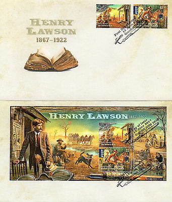 2017 AUSTRALIA Lot of 2 different HENRY LAWSON FDC covers (lot 6)