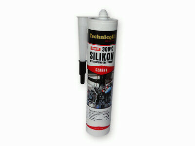 Black HT High Temperature Silicone Adhesive Sealant 300ml Heat Resistant 300'C
