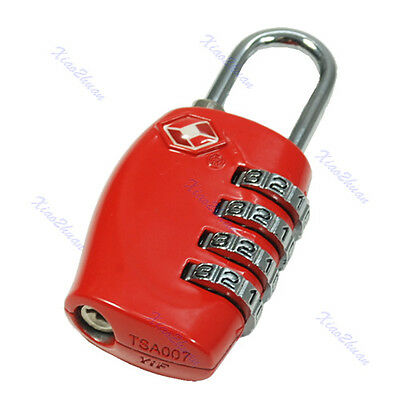 Resettable TSA 330 4 Digit Combination Travel Luggage Suitcase Lock Padlock Red