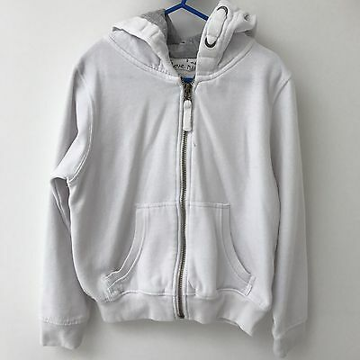 Next Girls White Zip Hoodie - Age 8 Years - Excellent Condition