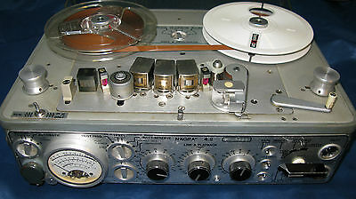 Nagra 4.2 Broadcast R/r With Leather Carrying Case In Working Order No A/c Unit