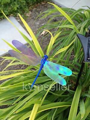 Solar Dancing Butterfly Dragonfly hummingbird Garden yard Flying on flower bed
