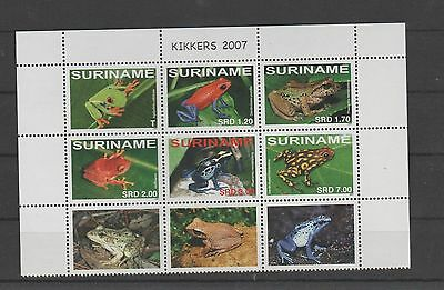 GH557 2007 Suriname Frogs  (MNH) minisheet