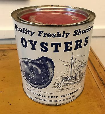 E. J. Conrad And Son Mollusk Va  1 Gallon Oysters Tin