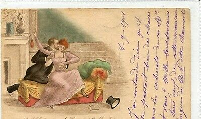 POSTCARD-ART SIGNED- FREDILLO-POSTED 1901undivided back