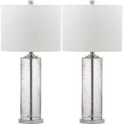 """Safavieh Grant 29"""" H Table Lamp with Drum Shade Set of 2"""