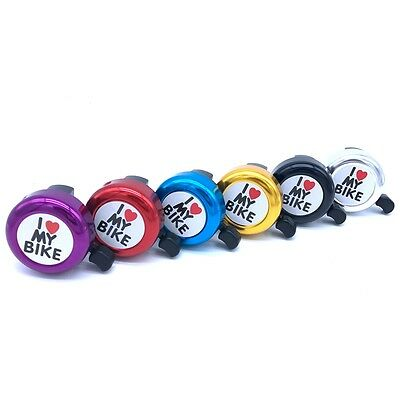 Cycling Bicycle Bell Printed Clear Sound Cute Horn I Love My Bike Alarm Ring