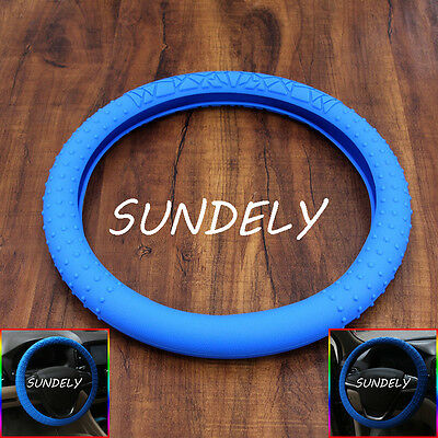 New Skidproof Car steering wheel cover 36cm - 40cm Silicone Soft Cover Mazarine