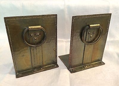 Vintage Roycrofters Hammered Copper Bookends, Arts & Crafts! Circa 1910s