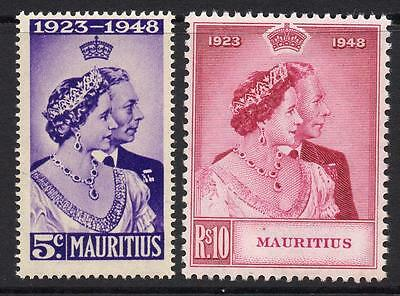 Mauritius Silver Wedding Set of Stamps c1948 Mounted Mint (tiny tone)