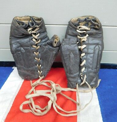 Rare Antique Vintage Leather Spalding Boxing Boxers Gym Training Gloves