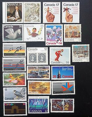CANADA  1977-1980 GREAT LOT of 22 different Commemorative stamps UNUSED MINT MNH