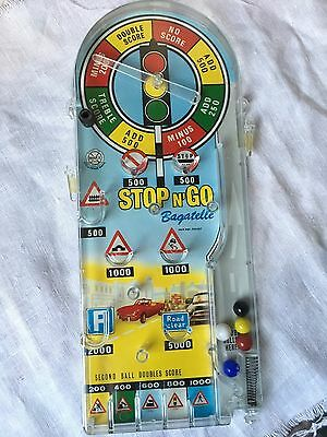 Vintage MARX Stop N Go Bagatelle Pinball Game circa 1970  - Great Cond. In Box