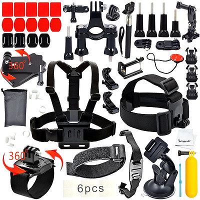 40 In 1 Accessories Kit Bundle For Gopro Hero 4 3+ 3 2 1 Session Mount Go Pro