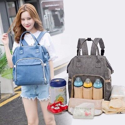 Fashion Mummy Maternity Nappy Diaper Bag Large Capacity Baby Travel Backpack LD2