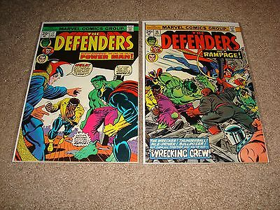 Marvel Comics Lot Of The Defenders #17 #18 The Wrecking Crew No Reserve!