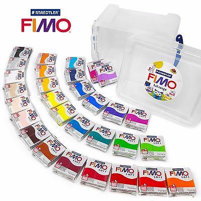 FIMO Soft 57g Polymer Modelling Oven Bake Clay - Set of all 30 Colours in Tub