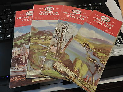 Lot 4 Esso Service Station Maps England South, West, East, North & Wales & Mid