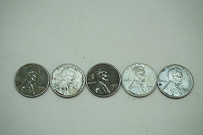 5 3 coin sets 1943 PDS Steel War Wheat Cent  Penny original WW2 WWII Antique