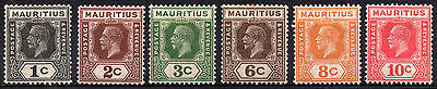Mauritius KGV 1921-34 SG233/5 & 228/10 - 6 very nice x MM stamps