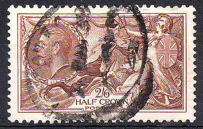 GB KGV 1934 SG450 Re-engraved 2s.6d. Chocolate Brown - Very Fine Used stamp