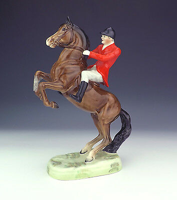 Beswick Pottery - Rearing Huntsman On Horse Figure - Slight Damage But Lovely!