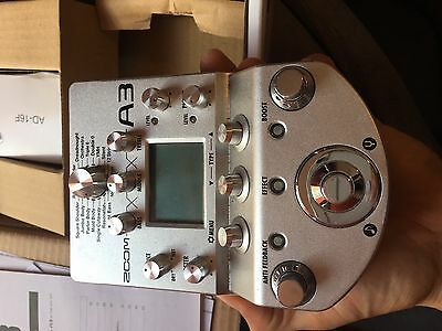 Zoom A3 Acoustic preamp / Multi effect (In box with manuals and plug)
