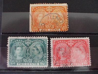 CANADA 1897 Jubilee Part Set of 3vs FU Cat 17.75 (25W)