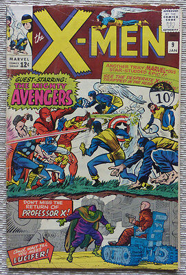 X-MEN #9, A 1965 ORIGINAL MARVEL WITH 1st APP. of LUCIFER