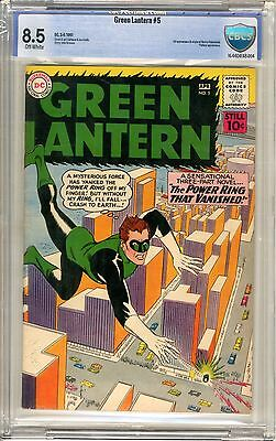 Green Lantern  #5  cbcs  8.5  off - white pages