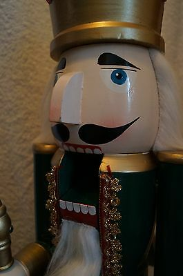 "Vintage German 30"" tall - The Nutcracker King - wooden Christmas statue- Rare"