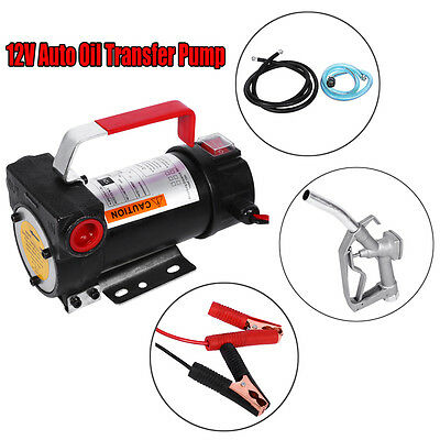 12V Electric Diesel Fluid Extractor Transfer Pump with Fuel Nozzle 155W 40L/Min