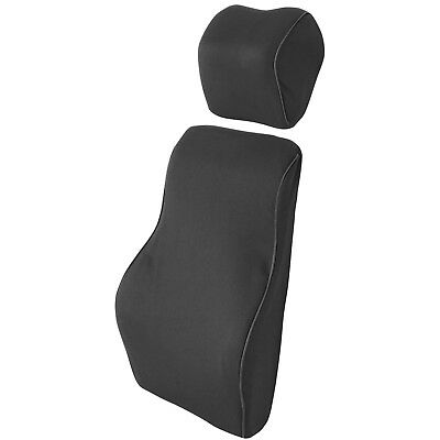 Supportec Memory Foam Lumbar Back Posture Support Cushion & Neck Pillow Car Set