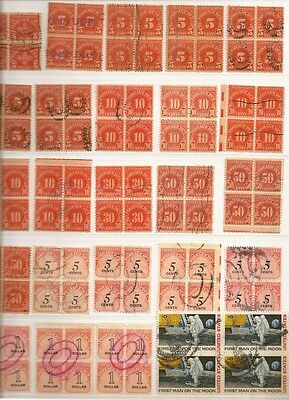 USA • Stock Page of Postage Due and Air Mail Stamp Blocks • 9