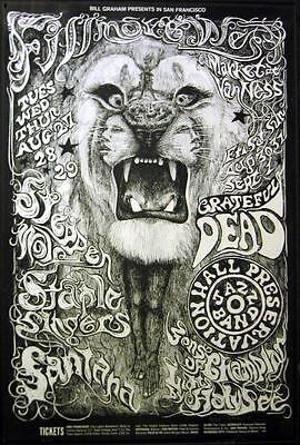 Santana POSTER Grateful Dead Steppenwolf The Staple Singers BG134-4 Lee Conklin