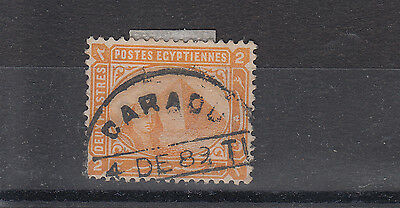 Egypt 1883 A Scarcer Caracou Cancel On 2pi SG55