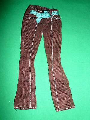 Barbie & Other Teen doll size Fashion ~ Brown Flared Corduroy Trousers